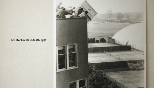 Tim Hecker, Ravedeath 1972 artwork cover sleeve