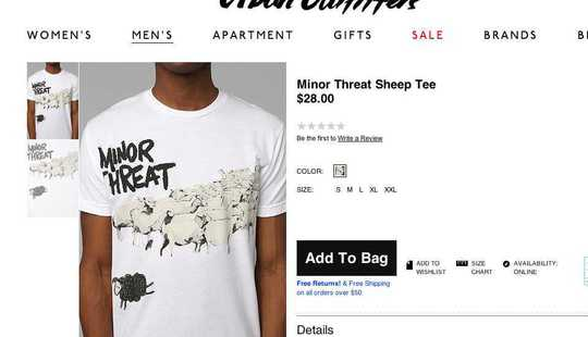 Minor Threat Urban Outfitters